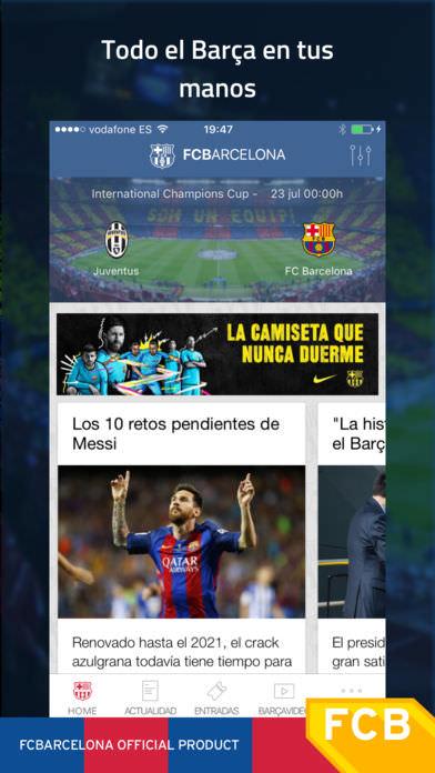 FC Barcelona Official App 1