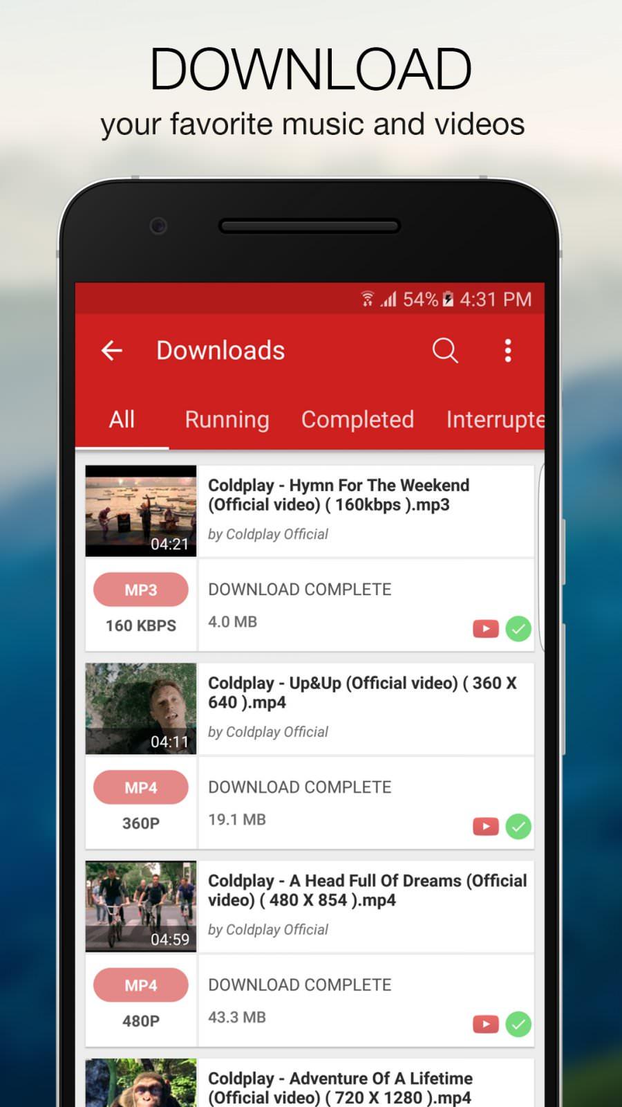 aplicacion para descargar videos al celular android