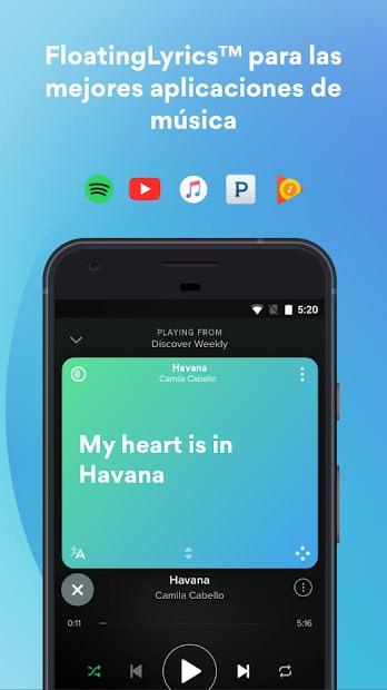 MusiXmatch Lyrics Player Letras 3