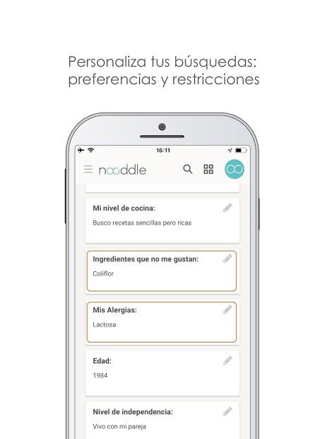 Nooddle App – Recetas sanas 5