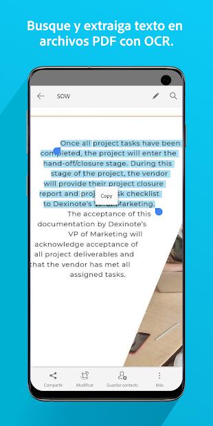 Adobe Scan: digitalizador de PDF, OCR 5