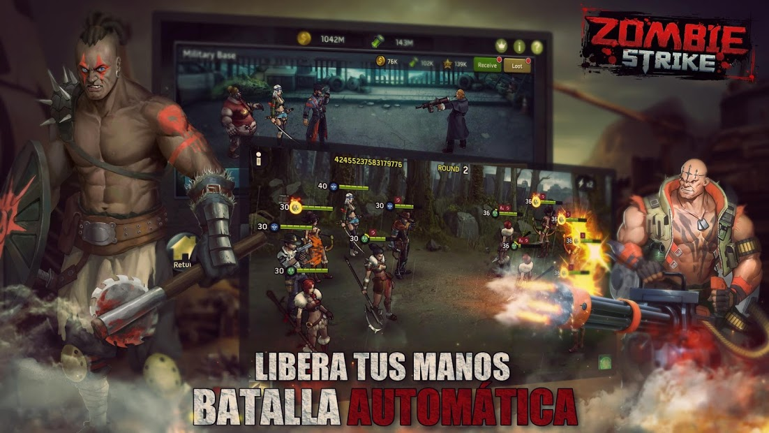Ataque Zombi: La Última Guerra de Batalla Inactiva 4