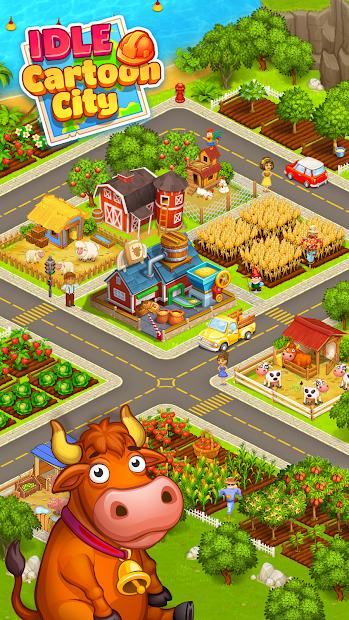 Cartoon city: granja y ciudad 3