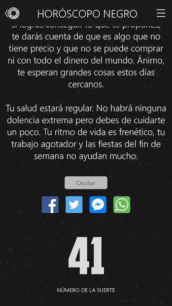 Horoscopo Negro 1 3 7 Para Android Descargar Apk Gratis De forma completamente gratuita para el usuario. descargar apk
